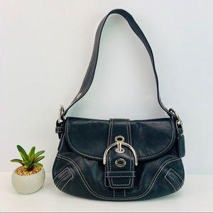 Coach Soho Leather Single Buckle Shoulder Bag